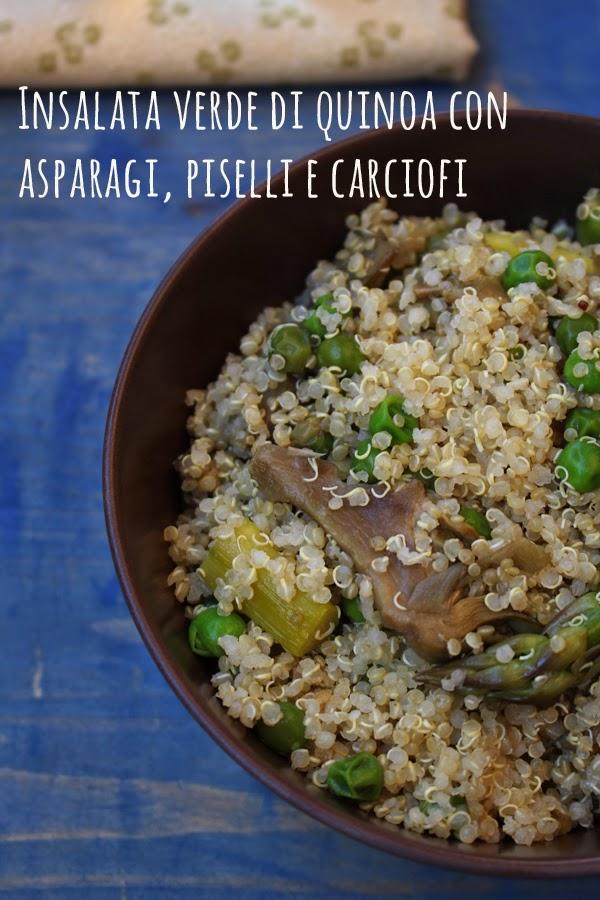 Ricetta Quinoa Con Carciofi.Insalata Di Quinoa Con Asparagi Carciofi E Piselli La Cucina Dello Stivale